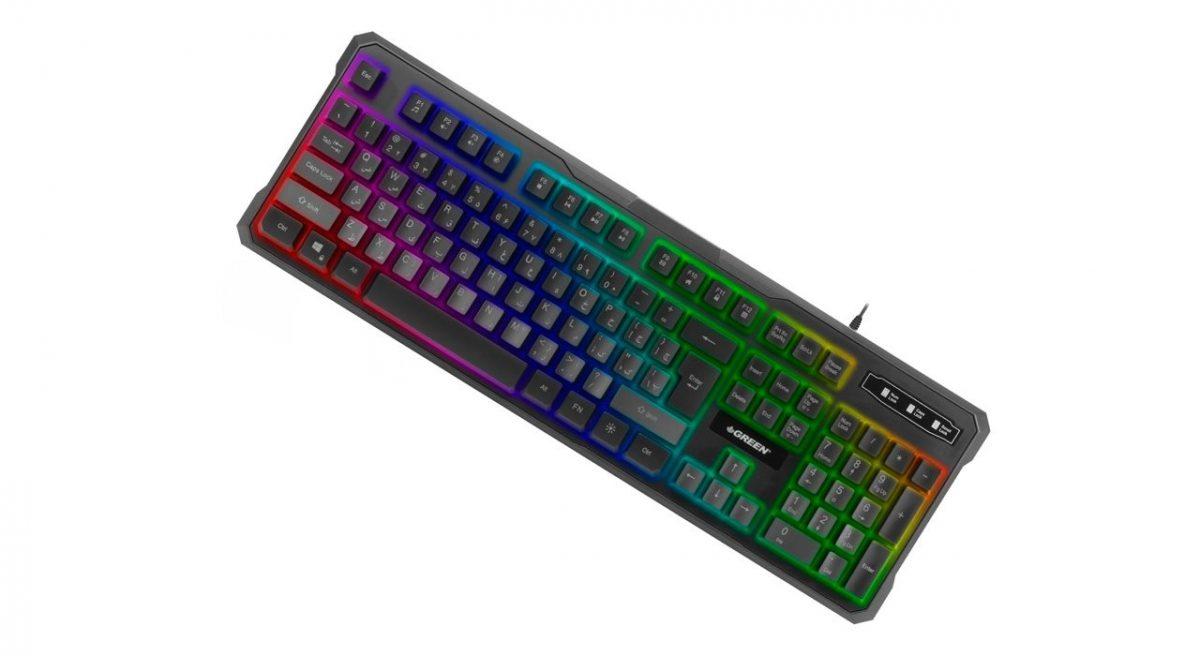 کیبورد سیم دار مخصوص بازی مدل GK601 Green